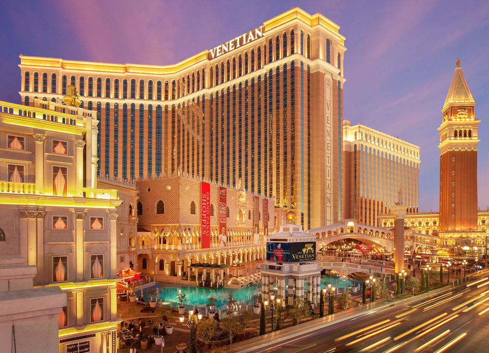 weekend getaway guide to Las Vegas; exterior strip The Venetian Hotel